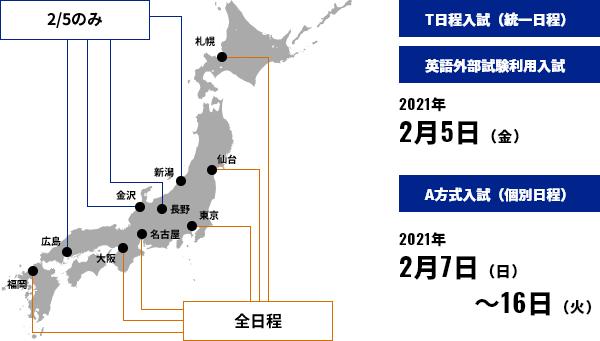 2021 日程 大阪 入試 大学