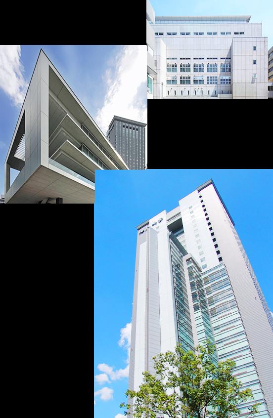 富士見坂校舎、富士見ゲート、 ボアソナード・タワーの写真